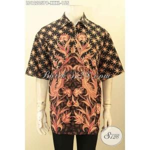 Harga baju batik kerja pria gemuk lengan pendek berkelas size xxxl | HARGALOKA.COM