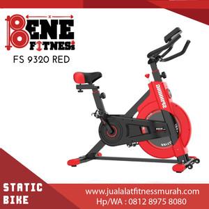 Harga spin bike sepeda statis fs 9320 red alat fitnes | HARGALOKA.COM