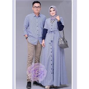 Harga cp rexa blue   baju couple lebaran   baju couple terbaru | HARGALOKA.COM