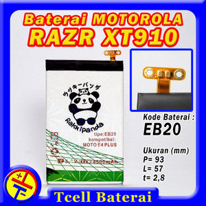 Harga baterai motorola razr xt910 eb20 rakkipanda batre batere | HARGALOKA.COM
