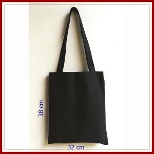 Harga tote bag kanvas tas polos kanvas tas murah hitam tas   HARGALOKA.COM