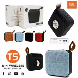 Harga speaker mini bluetooth wireless jbl t5 t 5 murah bass   | HARGALOKA.COM