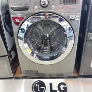 Harga mesin cuci front loading lg kap 20kg f2720svtv khusus jadetabek | HARGALOKA.COM