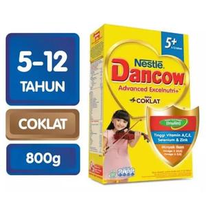 Harga susu dancow 5 plus coklat 800gr dancow 5 plus rasa coklat 800   HARGALOKA.COM