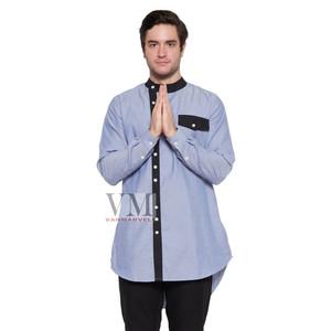 Harga vm gamis baju koko muslim panjang   gm 032   biru muda | HARGALOKA.COM