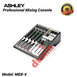 Harga mixer ashley mdx 4 original 4 channel effect reverb 24 bit   | HARGALOKA.COM