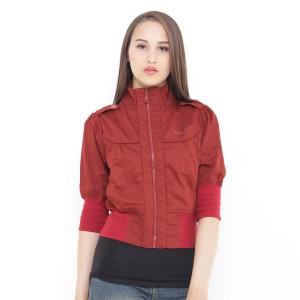 Harga mobile power ladies bolero jacket variation zipper  terracota d8346   merah | HARGALOKA.COM