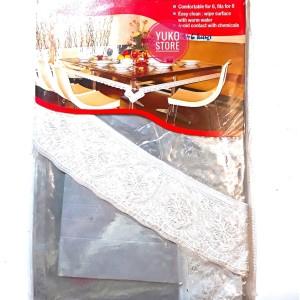 Harga Taplak Meja Makan Plastik Motif Kotak Kursi 6 Meiwa Katalog.or.id