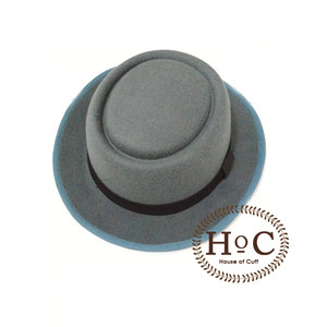 Harga houseofcuff dark grey pork pie hat topi | HARGALOKA.COM