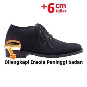 Harga keeve sepatu peninggi badan pria kbc 143   hitam   HARGALOKA.COM