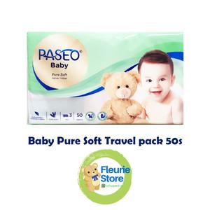 Harga tissue paseo baby pure soft travel pack 50s   tissue murah | HARGALOKA.COM