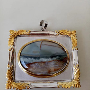 Harga batu pemandangan laut bkn giok kecubung fire opal buku macan | HARGALOKA.COM