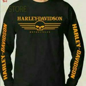 Harga tshirt long slevee kaos lengan panjang harley davidson high | HARGALOKA.COM