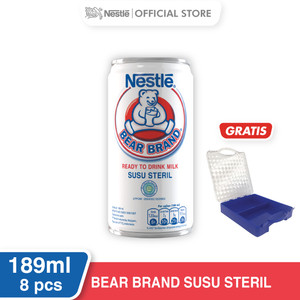Harga nestl bear brand minuman siap minum 189ml 8 pcs gratis | HARGALOKA.COM