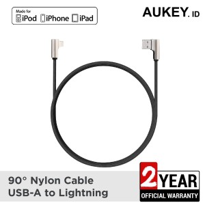 Harga aukey cable 1m mfi lightning braided nylon | HARGALOKA.COM
