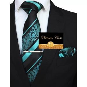 Harga dasi biru tosca batik salur import pria set platinum | HARGALOKA.COM