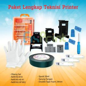 Harga paket tools refill kit canon hp obeng set bor cartridge double | HARGALOKA.COM