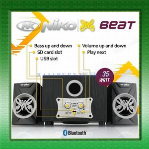 Harga speaker multimedia speaker aktif niko beat slank bluetooth     HARGALOKA.COM
