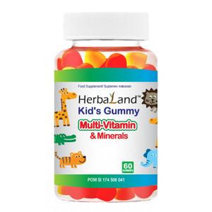 Harga multivitamin amp minerals herbaland 60 tablet kunyah pengiriman via | HARGALOKA.COM