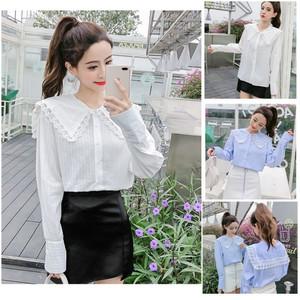 Harga a469631 baju kemeja lengan panjang cewek korea jepang lolita lace | HARGALOKA.COM