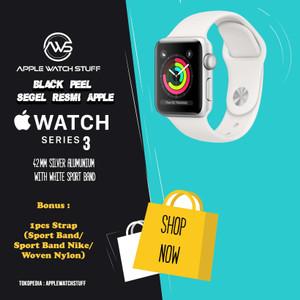 Harga apple watch series 3 gps 42mm silver aluminium with white sport band   full   HARGALOKA.COM