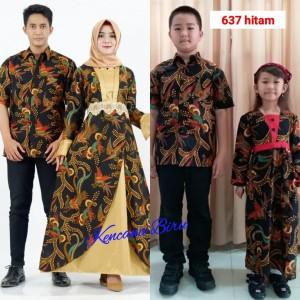 Harga 637 hitam couple batik keluarga dewasa m xl anak 2 5 thn | HARGALOKA.COM