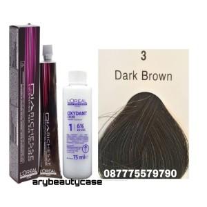Harga loreal diarichese 3 dark brown pewarna rambut toning | HARGALOKA.COM