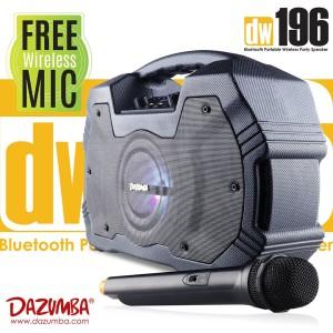 Harga dazumba dw 196 speaker bluetooth portabel karaoke free mic | HARGALOKA.COM