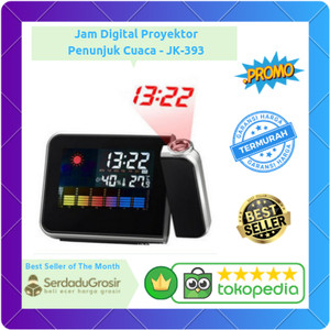 Harga jam digital led light weather projector clock   | HARGALOKA.COM
