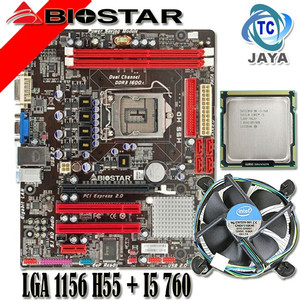 Harga motherboard biostar lga 1156 h55 plus processor i5 760 paketan | HARGALOKA.COM