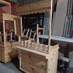 Harga booth jati belanda booth murah gerobak kayu gerobak | HARGALOKA.COM
