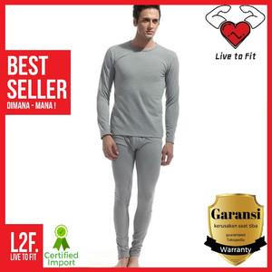 Harga pakaian dalam musim dingin pria long john baju panjang hangat winter   putih | HARGALOKA.COM