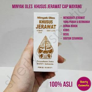 Harga obat jamu jerawat minyak oles khusus jerawat cap wayang | HARGALOKA.COM