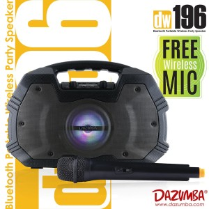 Harga speaker bluetooth karaoke portable 2 mic radio dazumba dw196   mic | HARGALOKA.COM