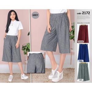 Harga red one celana kulot pendek stretch fashion premium wanita 2172   | HARGALOKA.COM