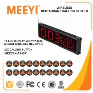 Harga restaurant calling system 20 button wireless long range meeyi | HARGALOKA.COM