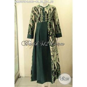 Harga baju gamis batik wanita berjilbab model kancing depan size l | HARGALOKA.COM