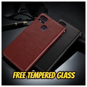 Harga casing asus zenfone 3 zoom ze553kl leather case flip cover wallet   3 zoom ze553kl   HARGALOKA.COM