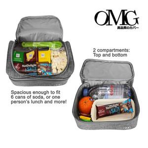 Harga lunch cooler bag tas bekal makanan anak tahan panas dingin 2 susun | HARGALOKA.COM