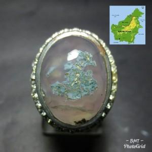 Harga asli cincin batu lumut suliki gambar motif peta   HARGALOKA.COM
