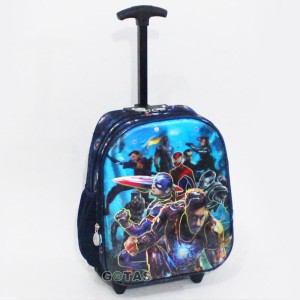 Harga tas roda troli avengers 7d 2k hitam merah trolley anak sekolah tk | HARGALOKA.COM