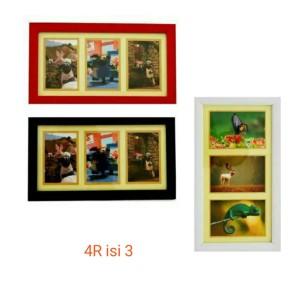 Harga bingkai foto frame foto pigura foto 4r isi 3 | HARGALOKA.COM