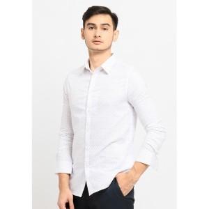 Harga jobb jayden kemeja pria lengan panjang slim fit putih   | HARGALOKA.COM