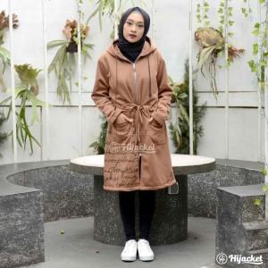 Harga jaket hoodie panjang wanita cewek cewe muslimah warna coklat ub magnum   | HARGALOKA.COM