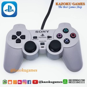 Harga stick ps1 ps 1 ps 2 psx controller sony playstation 1 abu abu ex japan   | HARGALOKA.COM