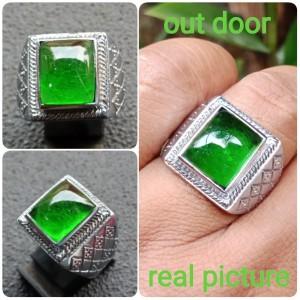 Harga cincin batu zamrud kalimantan ring kotak mewah     HARGALOKA.COM