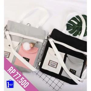 Harga tas selempang wanita tas kanvas tote bag multifunsi 3 in 1 142   | HARGALOKA.COM