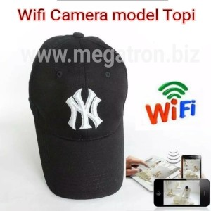 Harga wifi spy camera model topi   pantau live lewat hp android | HARGALOKA.COM