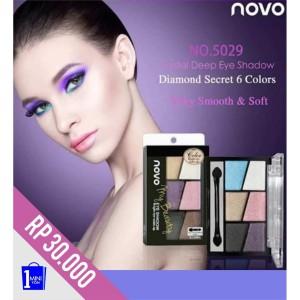 Harga eyeshadow novo color eyeshadow palet 6 eye shadow gliter   HARGALOKA.COM
