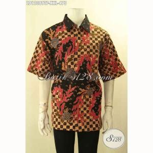 Harga kemeja batik tulis lengan pendek pria gemuk elegan size xxl | HARGALOKA.COM